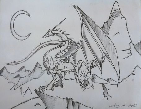 Dragon Drawn By My Friend by Simbaboy8