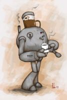 The Amazing Coffee-Robot by maledictus