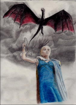 Daenerys and Drogon (Game of Thrones fanart) by WesterosRaven