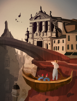 Speed Painting : Venise Celeste (Moebius) by Yondasable