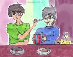 Valentine Shipping - ToyaXYukito: Eat the cake by Halowing