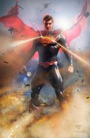 Superman -- Justice League by samrkennedy
