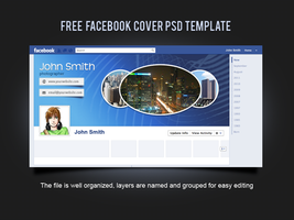 Free Facebook Cover PSD Template by xara24
