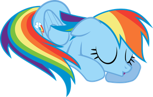 Nap Time Rainbow Dash by uxyd