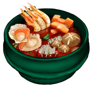 Seafood Hotpot by vampkimi