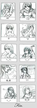 The Many Faces Of Amelia... by Chiharu-chan02