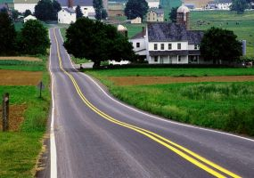 Amish Farms Lancaster Co. Pa. by ljbeau