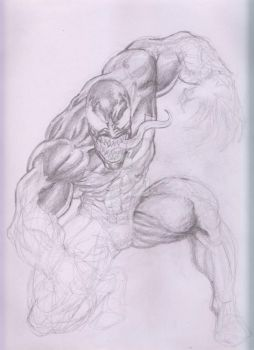Venom  on Pencil by Capocyan-Arvin