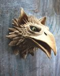 Gryphon head sculpture by Sunima