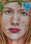 Woodstock May Queen ATC by waughtercolors