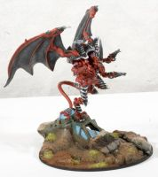 Tyranid Winged Hive Tyrant by RavenousPainting