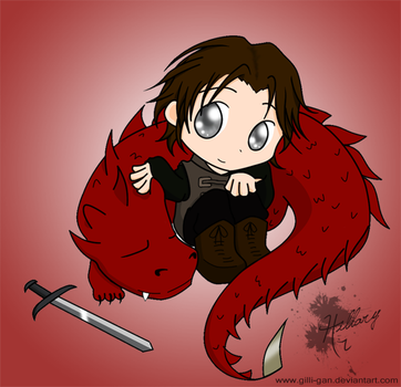 Murtagh and Thorn - chibi by GiLLi-GaN