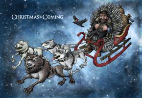 Christmas card 2011 - Game of Thrones by TomBerryArtist