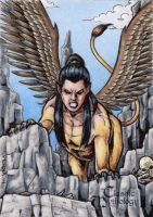 Sphinx Sketch Card - Classic Mythology II by tonyperna