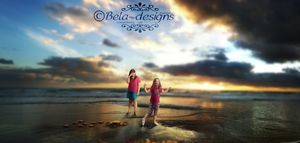 Sarah and Mudgie Go to The Beach by Bela-designs