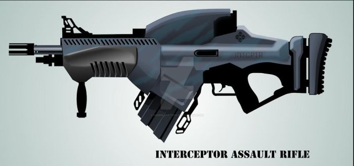 CONCEPT RIFLE IN VECTOR 2 by NoirPlaneteer