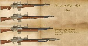 Steampunk Sniper Rifle Series by Lord-Malachi