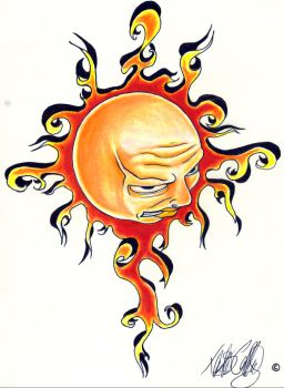 Angry Sun by father-of-lies