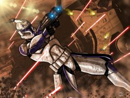 Captain Rex Under Fire by Kenpudiosaki