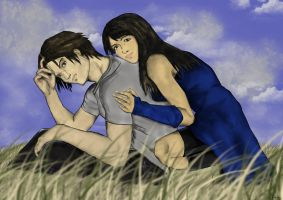 Squall and Rinoa by LionRedPepper