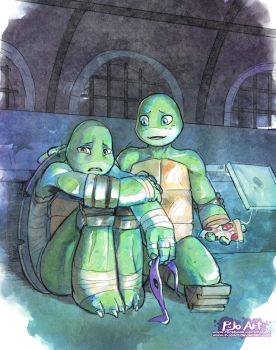 TMNT: Always by your side - Commission by P-JoArt