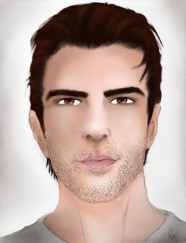 Zachary Quinto by GingerBG