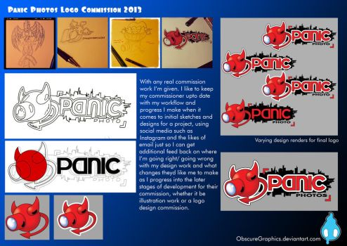 Panic Photos Logo ConceptWork by ObscureGraphics