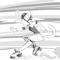 Skating by Aw0