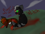 Player has startled the Witch by Spiritpie
