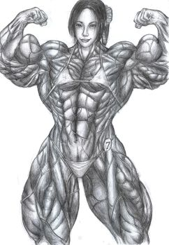 Bodybuilder Dawn by Rhinehartd