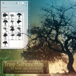Tree Silhouette Brushes by kuschelirmel-stock
