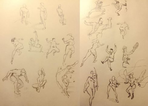 20 Action Poses by WhytManga