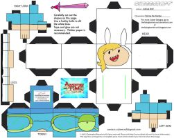 CE2: Fionna the Human Cubee by TheFlyingDachshund