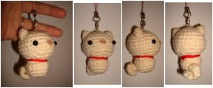 Crochet Pig Cell Phone Charm by katrivsor