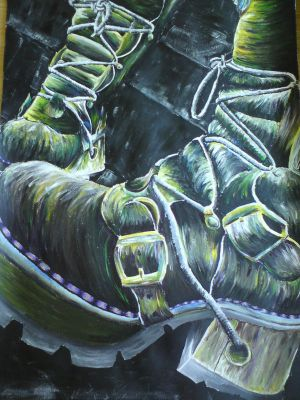 Boots- Painting by xXno-nameXx