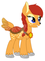 Fawnpond redesign (New name is Summer Sunset) by moshigal156