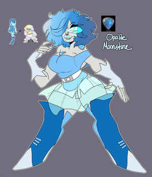 Opalite Moonstone by DonitKitt