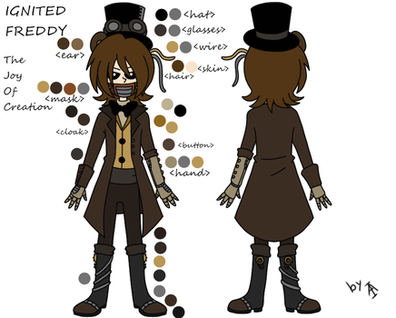 Ignited Freddy mini reference by Angel-from-FNaF