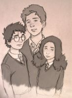 Doodle: Little Trio by Catching-Smoke