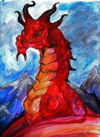 Odahviing Watercolour by BumbleBeeFairy