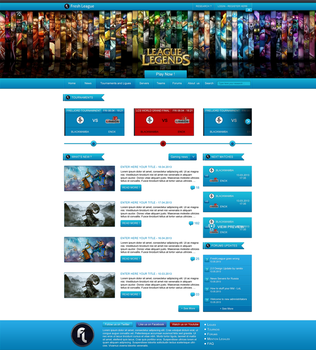 Fresh League Home Page - For Sale by crativearch