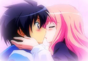 First Kiss Zero no Tsukaima by MelloxMattxMelanie