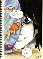 L and the golden fish by Miruna-Lavinia