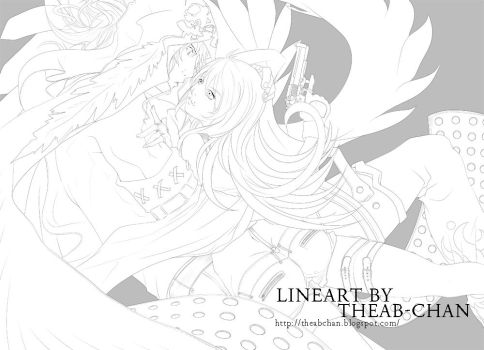 Lineart: Ready for the fight? by TheAB-chan