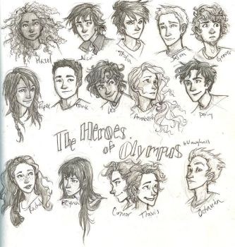 The Heroes of Olympus by ARTFANATIC1997