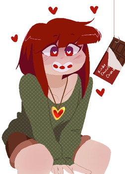 Don't you love it when chocolate does this? by Channydraws