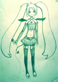 Scretch Miku Hatsune Project D by LuckyXClover