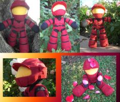 Halo Plush - Red vs Blue - Sarge by samanthawagner