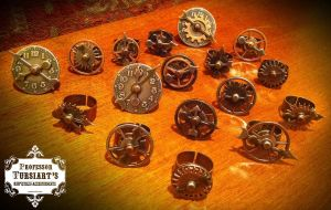 Steampunk Spinny Gear Rings 2 by tursiart