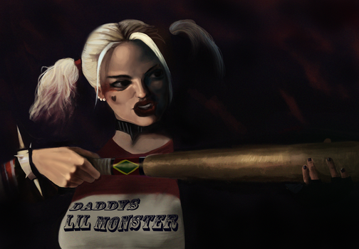 Harley Quinn Margot Robbie by Dobbydoo